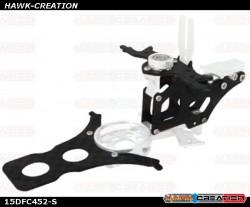 CNC AL and CF Main Frame Set (Silver) - Trex 150 DFC