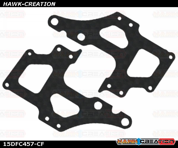 CNC CF Side Frame Set - Trex 150 DFC