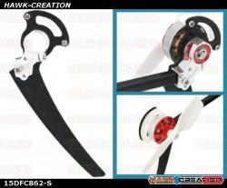 CNC Tail Motor Mount w/Protection Set (Silver) - Trex 150 DFC