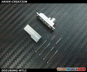 D05180 Metal Top and Lower Case & Gear Pins (Long & Short)