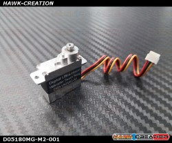 Programable D05180MG-M Full Metal Gear and Metal Top and Lower Case Micro Size Servo180 CFX Hard 3D Edition -Version 2