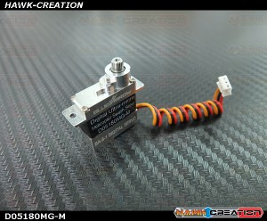 Programable D05180MG-M Full Metal Gear and Metal Top and Lower Case Micro Size Servo180 CFX Hard 3D Edition