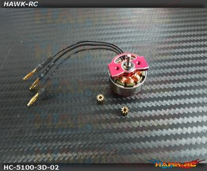 Hawk Creation 5100KV 3S Motor (W/ CNC Motor Mount) - 180 CFX In stock!!!