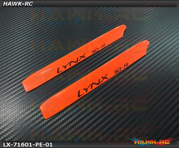 LYNX Plastic Main Blade 160 mm Orange - Pro Edition -180CFX