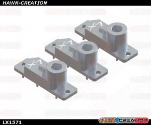 H2060 - 180 CFX - Aluminum CNC Upper Servo Case - 3 pcs - Silver - 180CFX