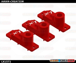H2060 - 180 CFX - Aluminum CNC Upper Servo Case - 3 pcs - Red - 180CFX