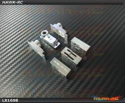 Lynx  - Aluminum CNC servo case, 3PC Set (Compatible with Blue Arrow D05180MG)- 180CFX