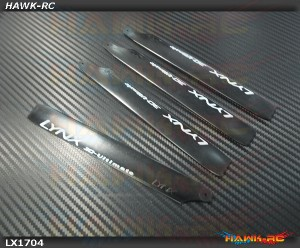 Lynx - 155mm Carbon Plastic Main Blade, 3pc - 180CFX
