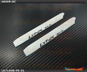LYNX Plastic Main Blade 160 mm White - Pro Edition -180CFX