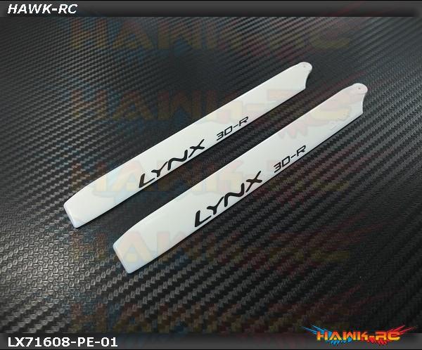 LYNX Plastic Main Blade 160 mm White - Pro Edition -180CFX