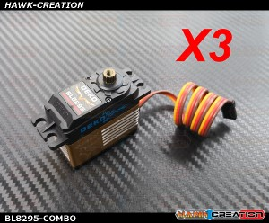 DEKO BL8295 Brushless Digital Standard Size Servo ( 0.06s, 22kg @ 8.4V ) COMBO (3pcs)