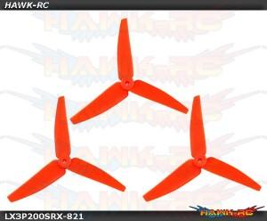 LX3P200SRX-821 - 200SRX/ 230S/200S/250CFX - Lynx Plastic 3 Bladed Propeller 82 mm - Orange