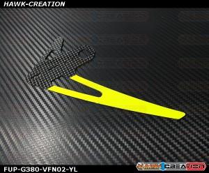 Fusuno CF Vertical Fin 1.5mm Yellow -Goblin 380