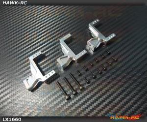 LYNX Aluminum Servo Support (3pcs, Silver) - G380