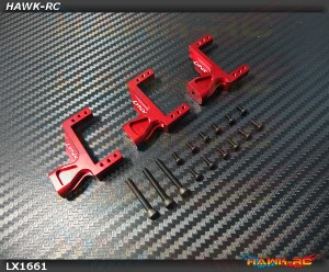 LYNX Aluminum Servo Support (3pcs, Red) - G380