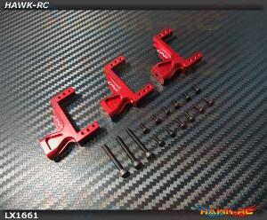 LYNX Aluminum Servo Support (3pcs, Red) - G380