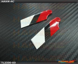 Tarot 62mm Carbon Fiber Tail Blade (Red/White)