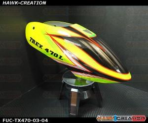FUC-TX470-03 FUSUNO Viper Airbrush canopy Trex 470L