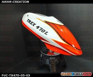 FUC-TX470-05 FUSUNO Fisherman Airbrush canopy Trex 470L