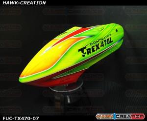 FUC-TX470-07 FUSUNO Rocket Airbrush canopy Trex 470L