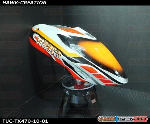 FUC-TX470-10 FUSUNO Speed Drift Airbrush canopy Trex 470L
