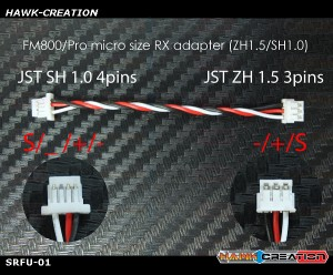 FM800/Pro micro size RX adapter (ZH1.5/SH1.0)