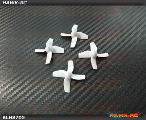 BLADE - Prop Set (4), White: Inductrix [BLH8705]