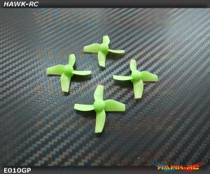 2 Pairs Propellers Prop (Green) For Blade Inductrix RTF BLH8700
