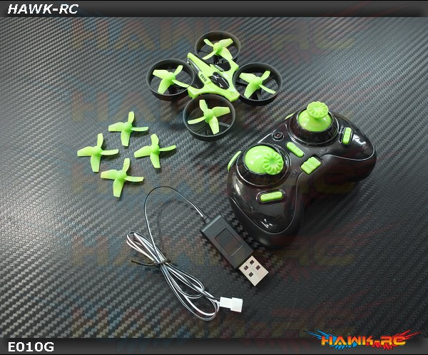 Eachine E010 Mini 2.4G 4CH 6 Axis Headless Mode RC Quadcopter RTF (GREEN)