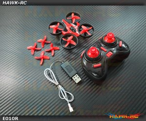 Eachine E010 Mini 2.4G 4CH 6 Axis Headless Mode RC Quadcopter RTF (RED)