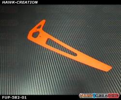 FUSUNO Neon Red Fiberglass Vertical Fin Compatible with Trex 800