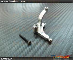 LYNX Precision Tail Bell Crank Lever (Silver) GOBLIN 380/500/570