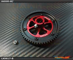 LYNX CNC Ultra Main Gear Set - Red Devil Edition (Black Gear)- GOBLIN 500/570