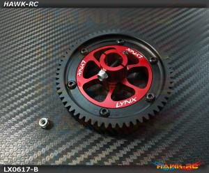 LYNX CNC Ultra Main Gear Set - Red Devil Edition (Black Gear)- GOBLIN 500/570