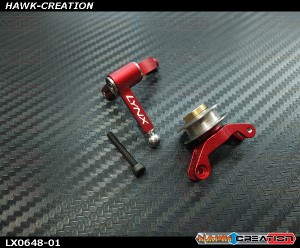 LYNX Precision Tail Bell Crank Lever Pro Edition Red - Goblin 500/570