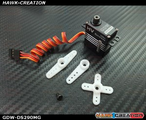 GDW DS290MG Digital Micro Size Servo (Coreless 4.8Kg.cm@7.4V,0.065s/60degree)