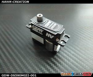 GDW DS590MGII Digital Mini Size Servo (Black)(Coreless 12Kg.cm@8.4V,0.07sec/60degree)