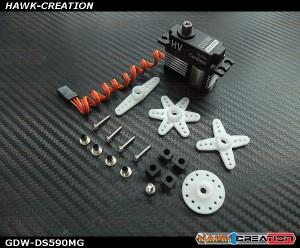 GDW DS590MG Digital Mini Size Servo (Black)(Coreless 12Kg.cm@8.4V,0.07sec/60degree)