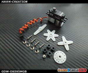GDW DS595MG Digital Mini Size Tail Servo (Black)(Coreless 5.5Kg.cm@8.4V,0.03sec/60degree)