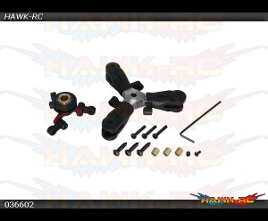 X3 CNC 3 Blades Tail Rotor Head Complete Assembly
