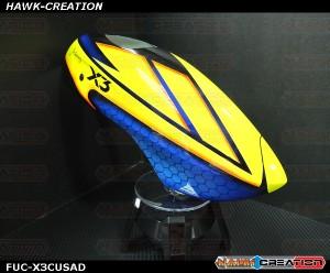 Fusuno Ancient Dragon Airbrush Fiberglass Canopy Gaui X3