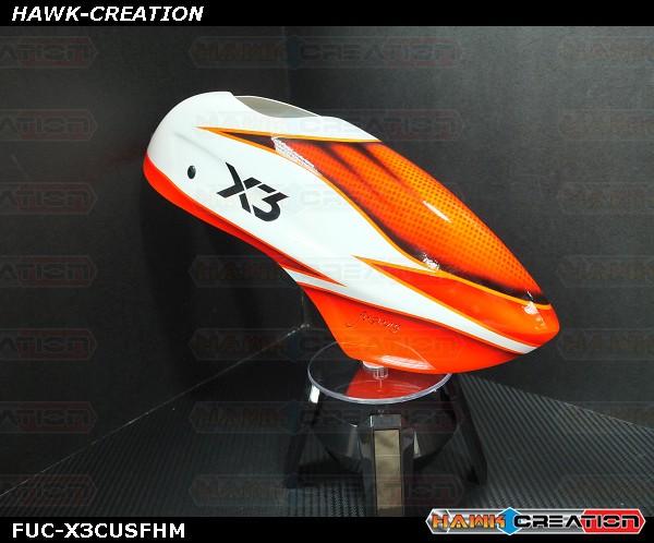 Fusuno Fisherman Airbrush Fiberglass Canopy Gaui X3