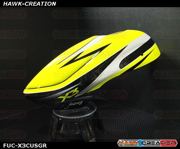 Fusuno Greenify Airbrush Fiberglass Canopy Gaui X3