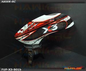 Fusuno Masky Airbrush Fiberglass Canopy Gaui X3