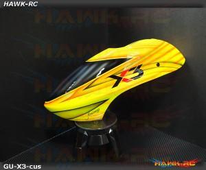 Fusuno Airbrush Fiberglass Canopy Slash Gaui X3