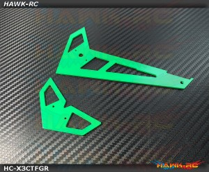Hawk Creation Neon Green Fiberglass Hor/Ver Fins - GAUI X3