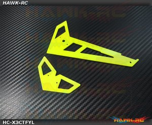 Hawk Creation Neon Yellow Fiberglass Hor/Ver Fins - GAUI X3