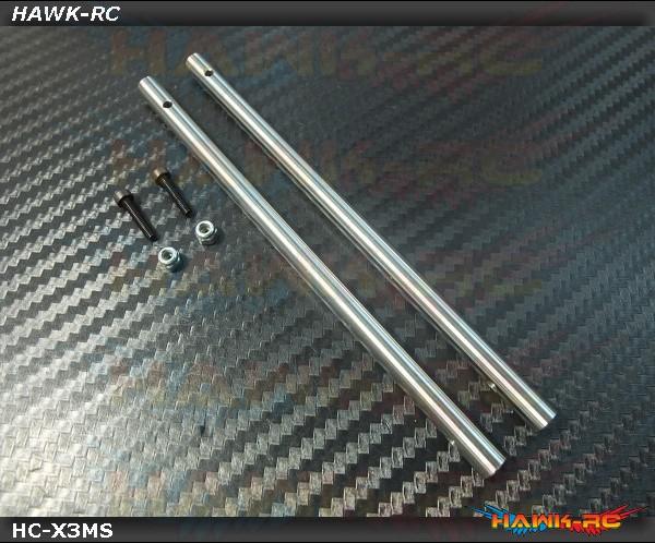 Hawk Creation Main Rotor Head Hardern Main Shaft (2pcs) - GAUI X3