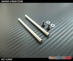 Hawk Creation GAUI X3 Spindle (2pcs) For Hawk X3 Metal Main Rotor Grips