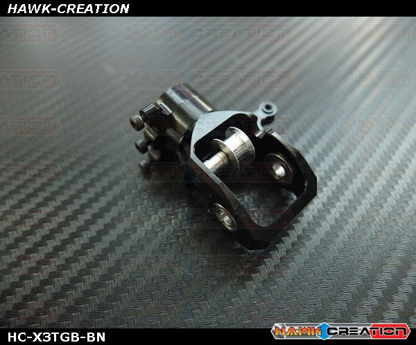 Upgrade Tail Gear Box (Clamp Style)Black without belt pulley- X3
